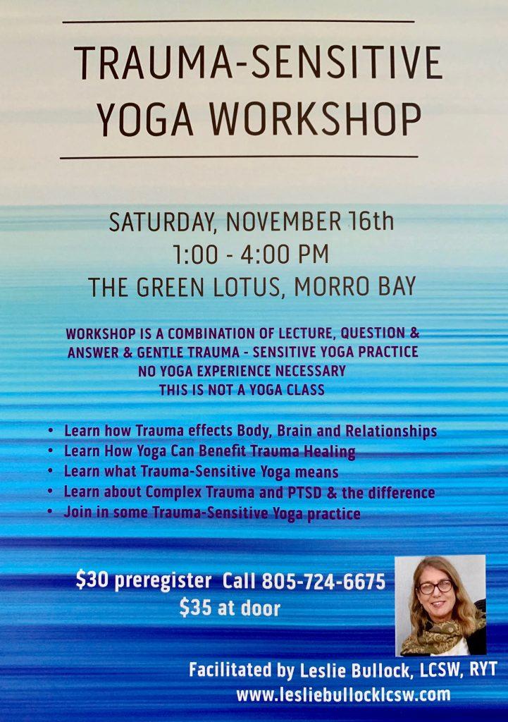 Trauma-Sensitive Yoga Workshop Flyer